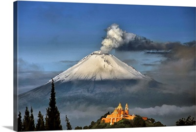 Popocatepetl and Choula Church