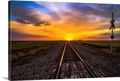 Sunset on Tracks