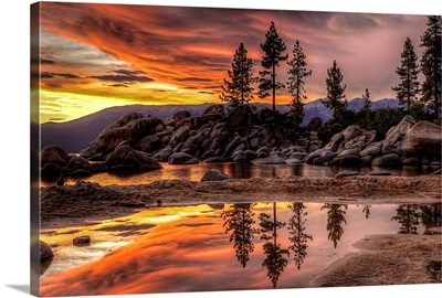 Tahoe Sunset Reflections