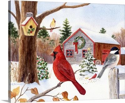 Cardinal, Chickadee