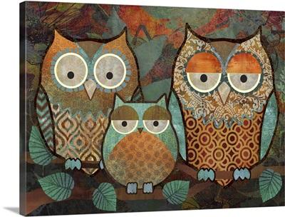 Decorative Owls III