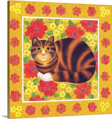 Kitty in Spring Flowers III