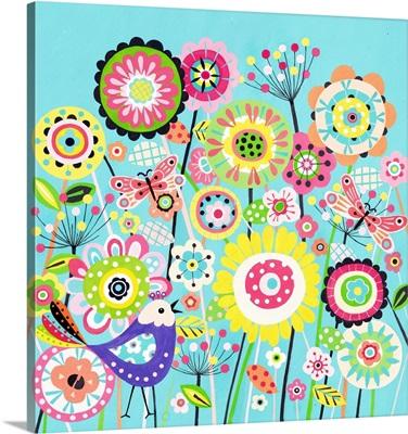 Lollipop Flowers and Butterflies