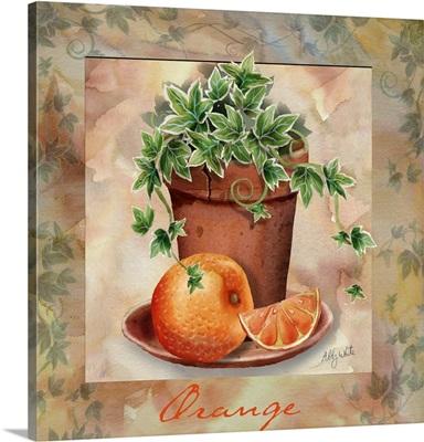 Orange and ivy square