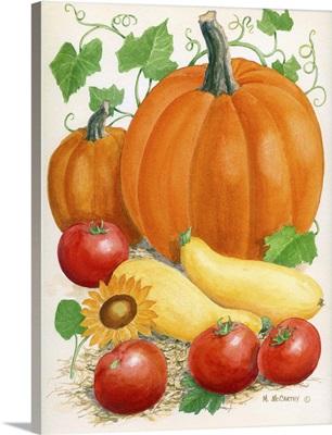 Pumpkins, Tomatoes and Squash