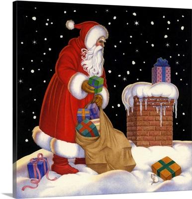Santa Delivers the Presents
