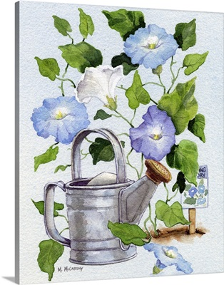 Watering Can and Morning Glories