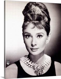 Audrey Hepburn Breakfast At Tiffanys B Wall Art Canvas