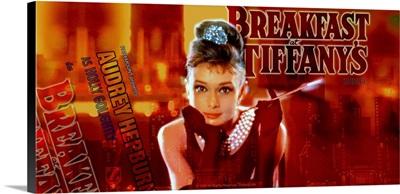 Audrey Hepburn Breakfast at Tiffanys Orange Strip