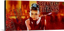 Audrey Hepburn Breakfast at Tiffanys Orange Strip