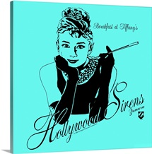 Audrey Hepburn Breakfast at Tiffanys Teal 1