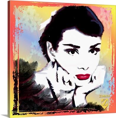 Audrey Hepburn Glamour Sketch