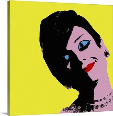 Audrey Hepburn Yellow Dots