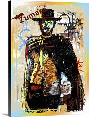 Clint Eastwood Graffiti Cowboy
