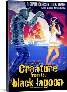Creature From The Black Lagoon 5 Sci Fi Movie Poster Wall