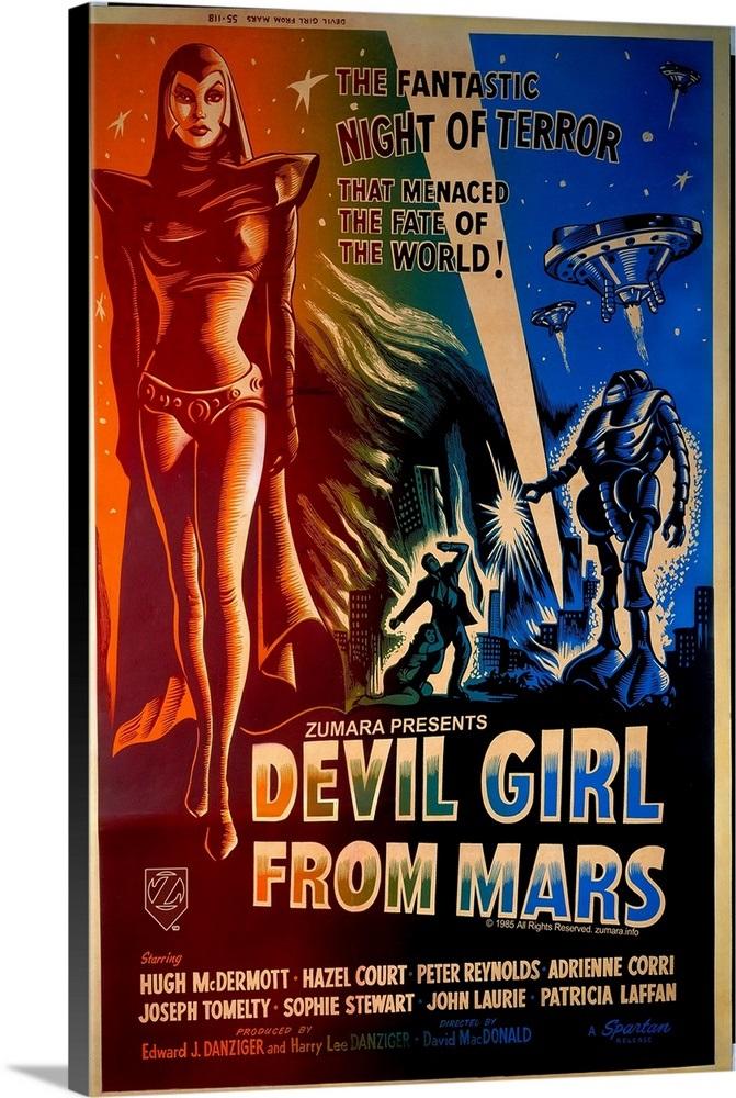 Devil Girl From Mars 2 Sci Fi Movie Poster