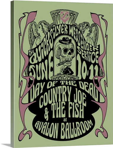 Grateful Dead Avalon Ballroom 4 Wall Art, Canvas Prints, Framed ...