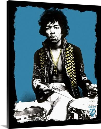 Jimi Hendrix Blue Drums Wall Art, Canvas Prints, Framed Prints, Wall ...