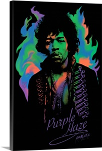 Jimi Hendrix Liquid Psychedelic 2 Wall Art Canvas Prints