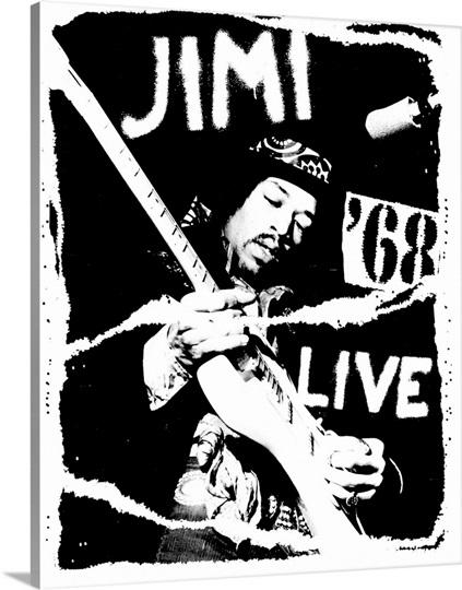 Jimi Hendrix Live Wall Art, Canvas Prints, Framed Prints, Wall Peels ...