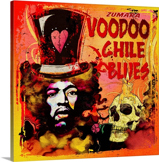 Jimi Hendrix Voodoo Chile Blues Wall Art Canvas Prints