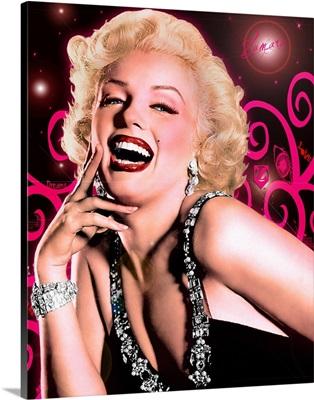 Marilyn Monroe Pink Swirls