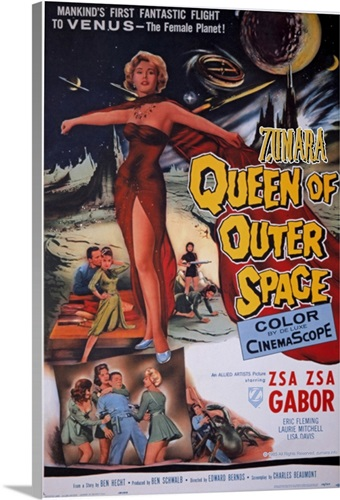 Queen of Outer Space 1 Sci Fi Movie Poster Wall Art, Canvas Prints ...