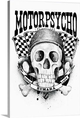 Rider Motor Psycho Skull