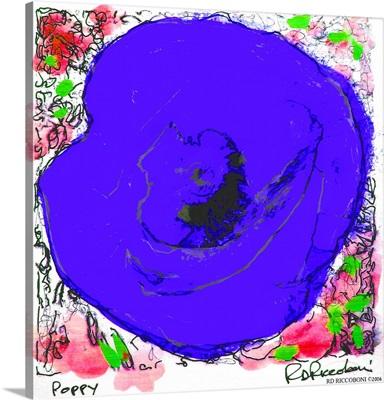 Blue Poppy Flower
