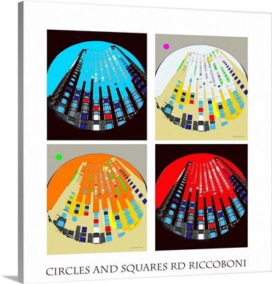 Circles and Squares Abstract