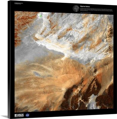 Algerian Sahara - USGS Earth as Art