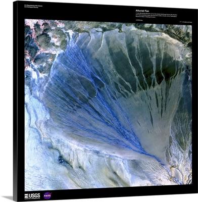 Alluvial Fan - USGS Earth as Art