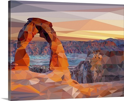 Arches National Park - Low-Poly Art