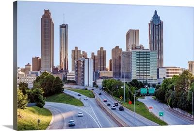 Atlanta City Skyline From The East Side, Georgia