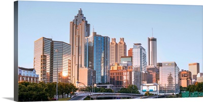 Atlanta City Skyline From The North Side, Georgia