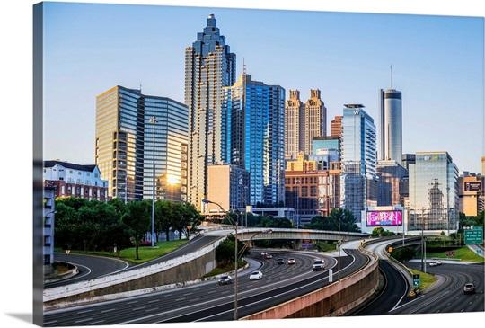 Atlanta Skyline Wall Decal