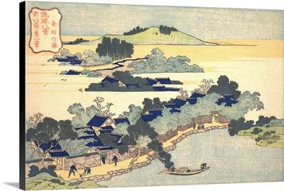 Bamboo Hedge at Kumemura, from the series Eight Views of the Ryukyu Islands