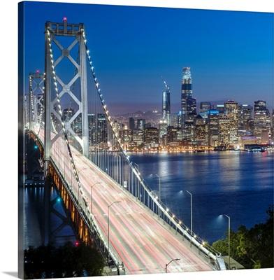 Bay Bridge and Downtown San Francisco at Dusk