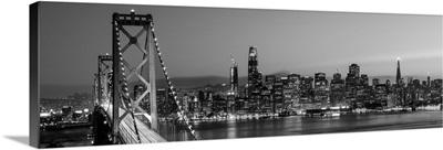 Bay Bridge and San Francisco Skyline at Dusk