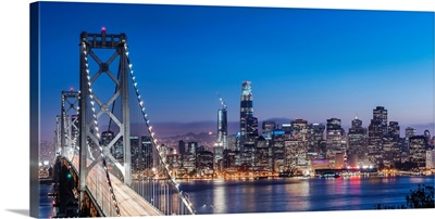 Bay Bridge and SF Skyline at Dusk