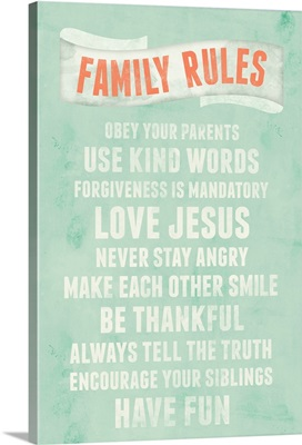 Be Thankful Family Rules