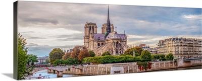Behind Notre Dame, Paris