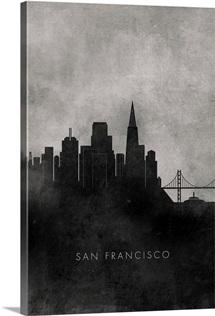 Black and White Minimalist San Francisco Skyline