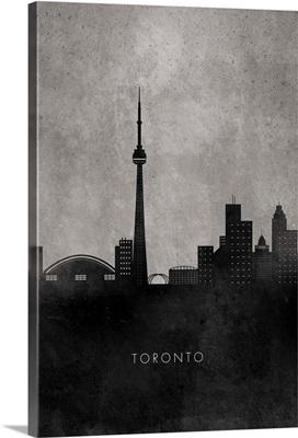 Black and White Minimalist Toronto Skyline