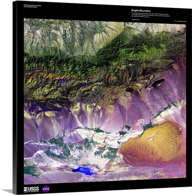Bogda Mountains - USGS Earth as Art