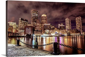 Boston Skyline Wall Art Boston Skyline Paintings Drawing Great Big Canvas