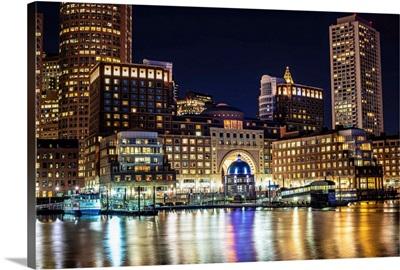 Boston Marina at Night