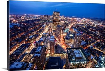 Boston Skyscrapers at Night