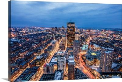 Boston Skyscrapers in the Evening