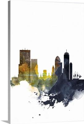 Boston Watercolor Cityscape